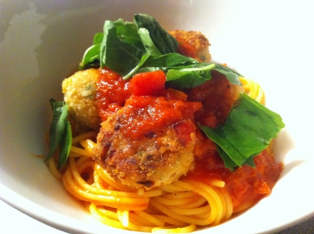 Spaghetti with Veggie Meatballs (Gluten-Free)