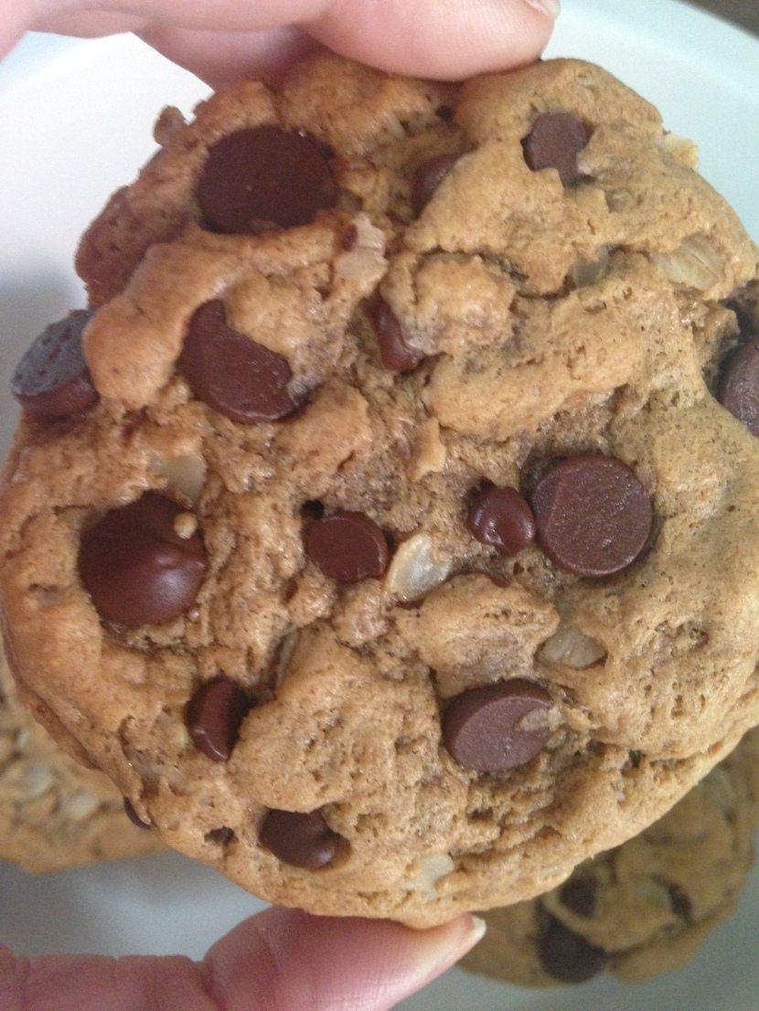 Flourless PB, Oatmeal Choc Chip Cookies (GF)