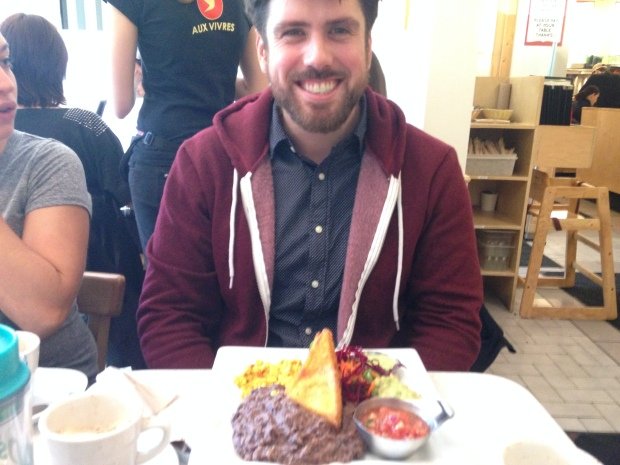 Nick was very happy with his brunch...