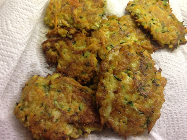Gluten-Free Veggie Latkes made with zucchini, carrot and onion