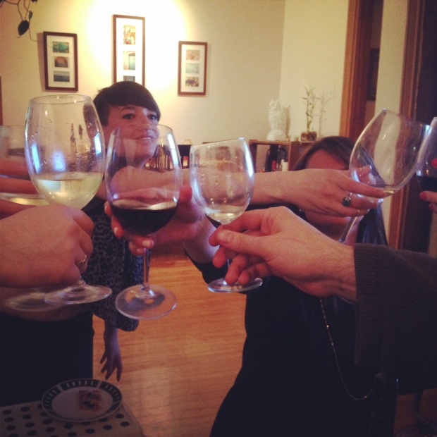 Toasting friends and a great gluten-free seder.