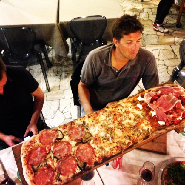The non-gluten-free 1 meter pizza for my friends