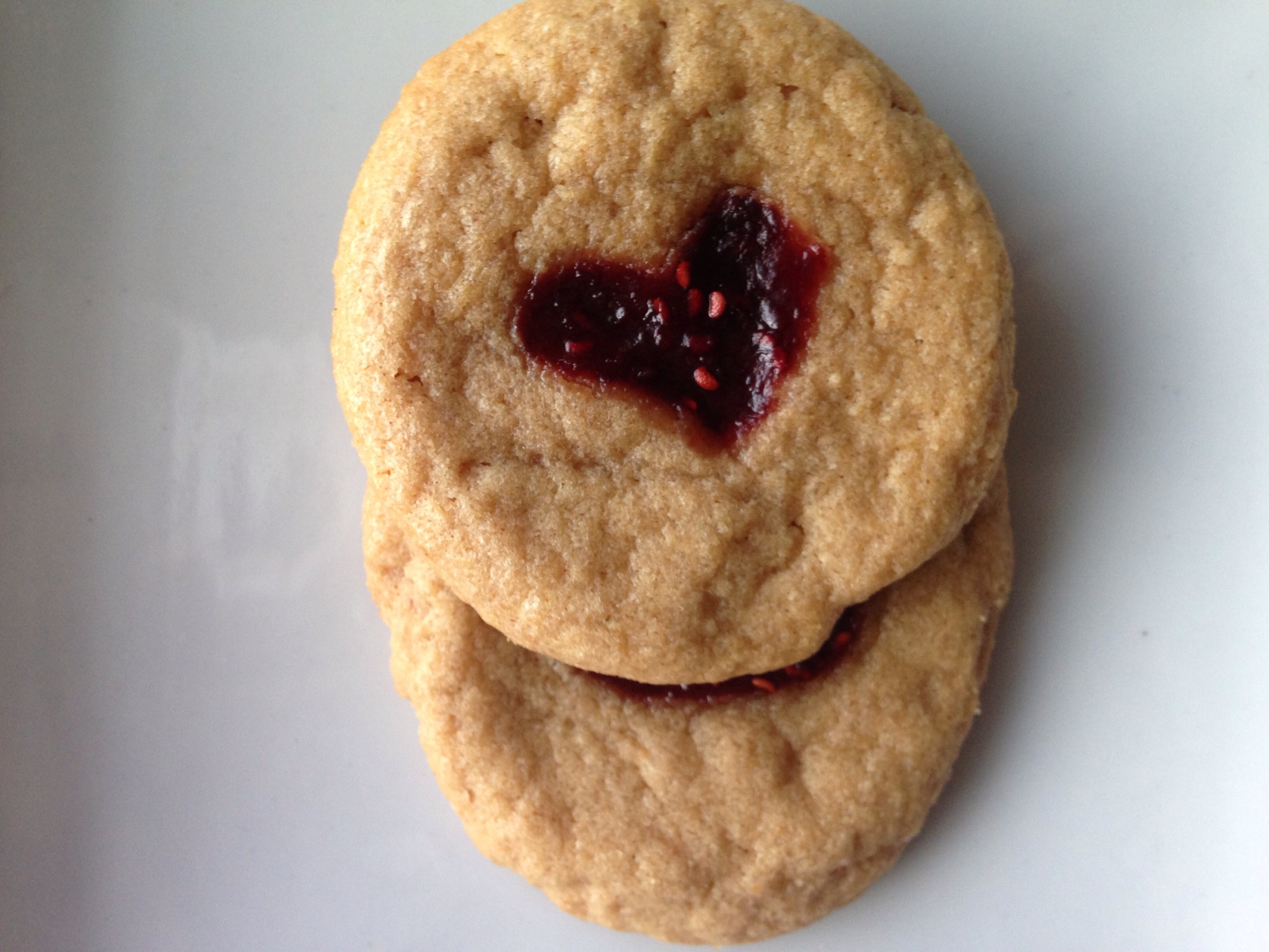 4 Ingredient Easy Jammy Hearts PB Cookies (Gluten-Free).JPG