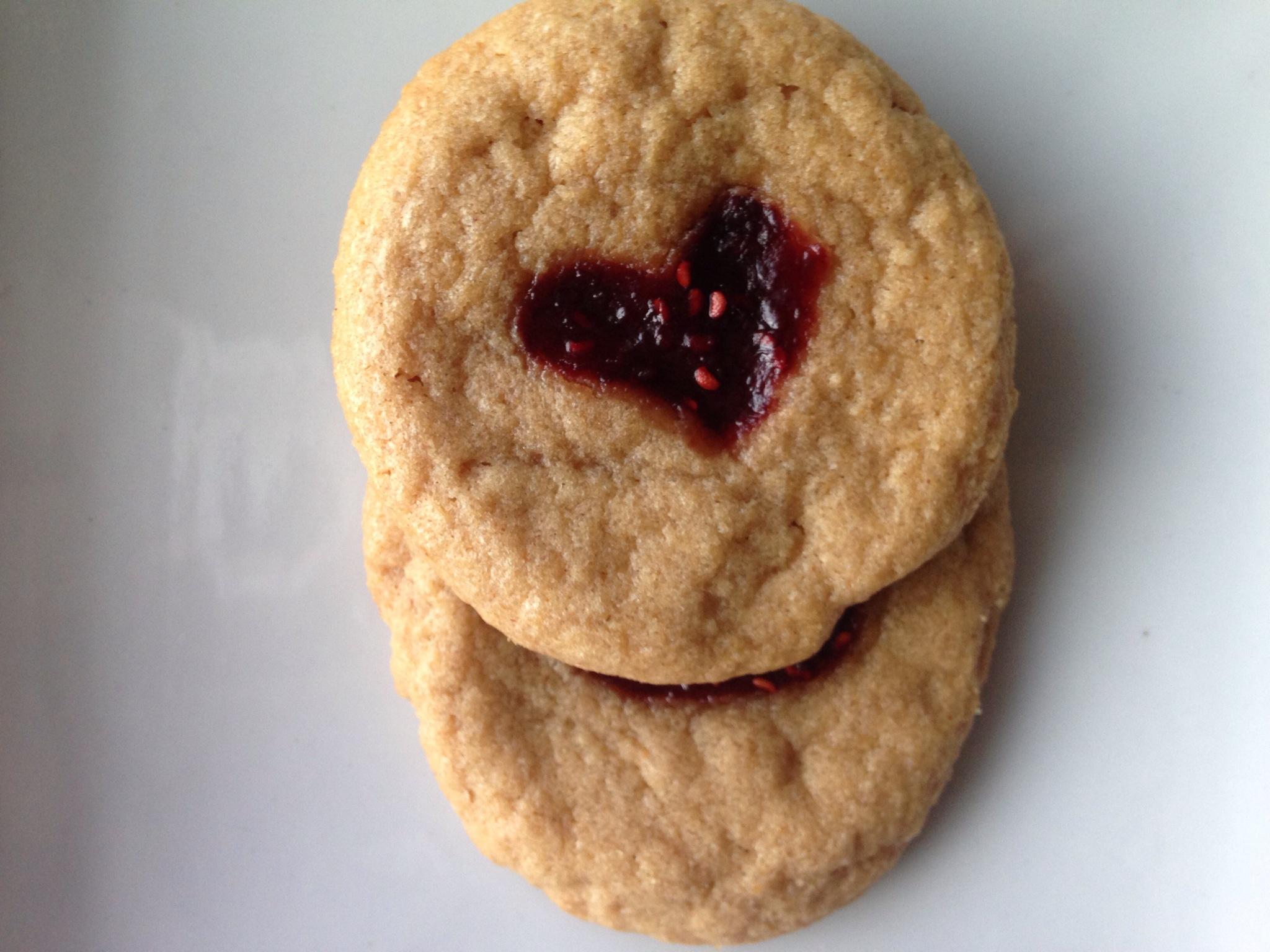4 Ingredient Easy Jammy Hearts PB Cookies (Gluten-Free).JPG