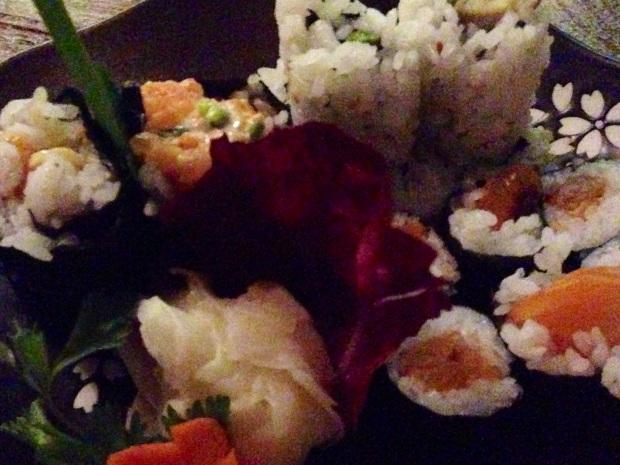 gluten-free sushi at Maiko