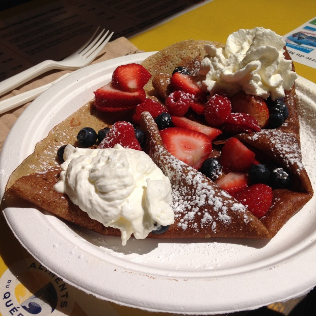 Crêpe sucrée- with berries and whipped cream from la crêperie du marché