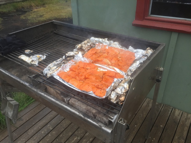 Gluten-free salmon on the BBQ