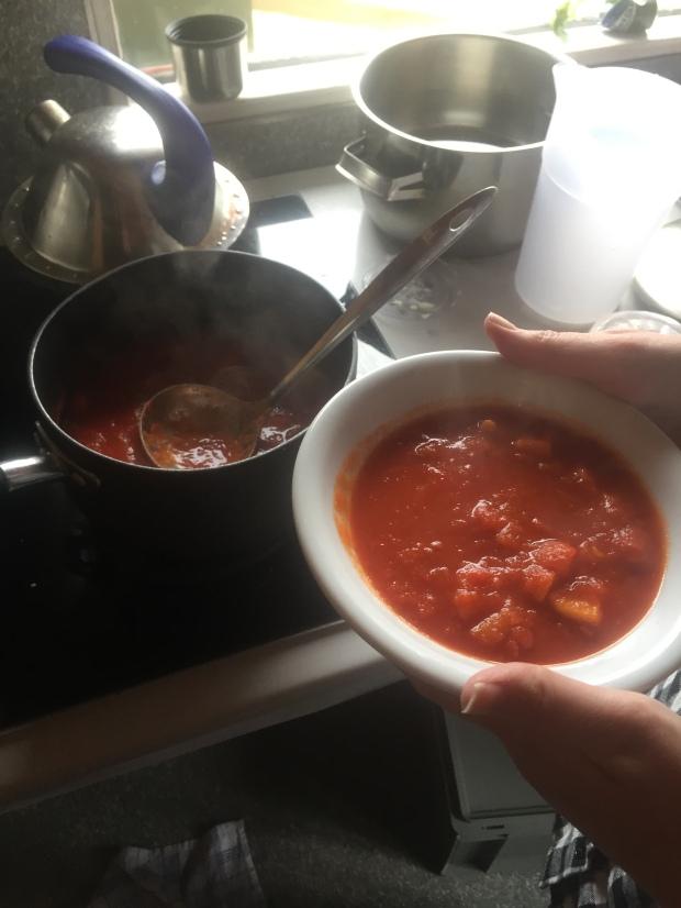 Yummy gluten-free veggie soup